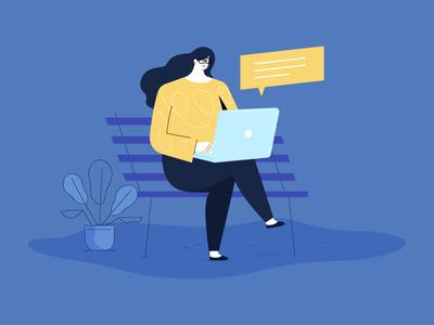 Chatting Women women illustration chat
