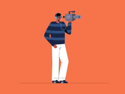 Camera Man camera coolers illustration camera man