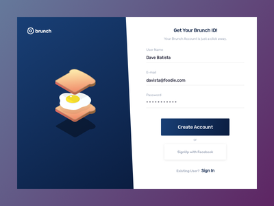 Daily UI 01 001 daily ui signup