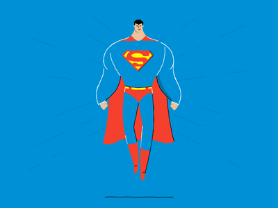 Superman stroke and fill illustration superman