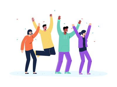 Celebrate celebrate team illustration dancing party