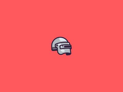 PUBG - Helmet stroke illustration helmet pubg