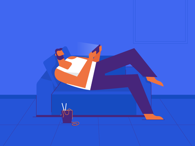 Weekend! relaxing sofa home illustration rest weekend