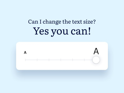 Accessibility - Text size android ios mobile ui support vision font increase size text accessibility accessible