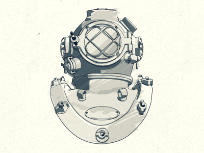 Diving Helmet Sketch helmet c4d npr sketch cinema 4d