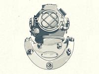 Diving Helmet Sketch