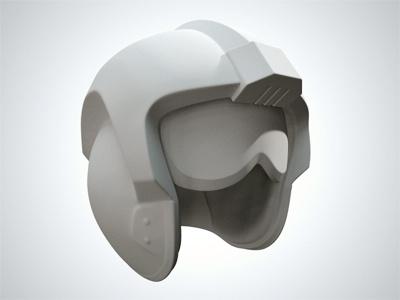 X-Wing Helmet Clay Render star wars x-wing helmet c4d cinema4d cinema 4d render 3d vray