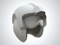 X-Wing Helmet Clay Render