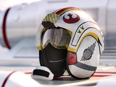 X-Wing Helmet - Daylight x-wing star wars 3d helmet c4d render dof vray cinema 4d cinema4d