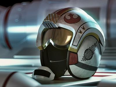 X-Wing Helmet - Night dof helmet x-wing star wars c4d 3d vray render cinema4d cinema 4d