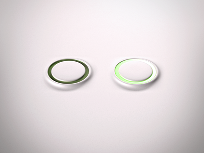 Simple Switch button switch clean glow led vray cg 3d c4d