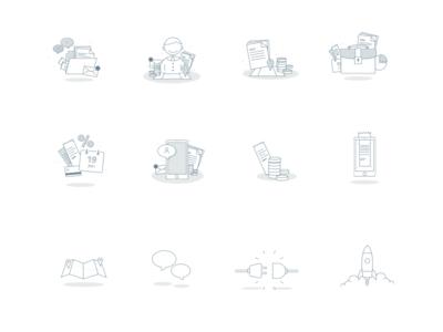 Illustration sheet ui app illustration