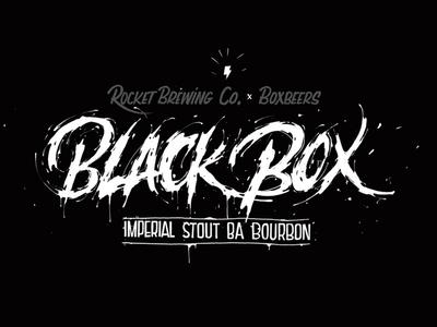 Blackbox Label letters lettering