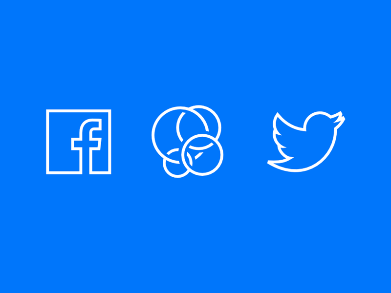 Social Icons free twitter game-center line-art facebook icons social-media psddd