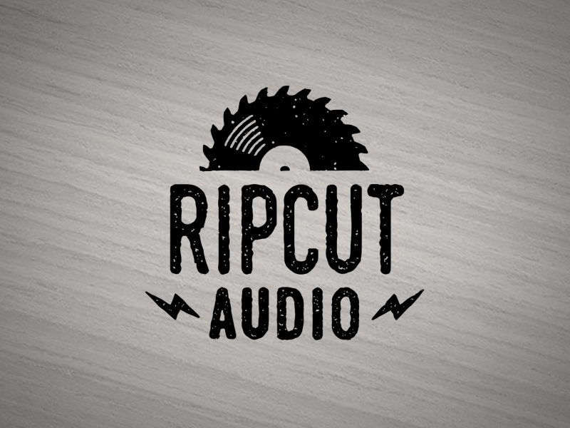 Ripcut music turntable blade album audio record lp saw logo