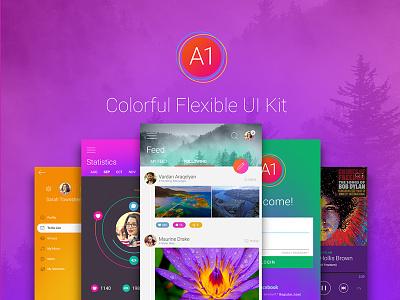 A1 Free Android UI Kit android ux ui ui kit user interface kit