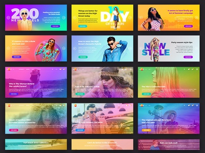 August UI Kit. Banners and sliders web ui kit web sliders banners e-commerce ui kit