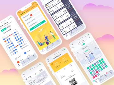 FlyTrip - Airplane tickets Mobile App mobile app airplane tickets mobile ui ux ux ui
