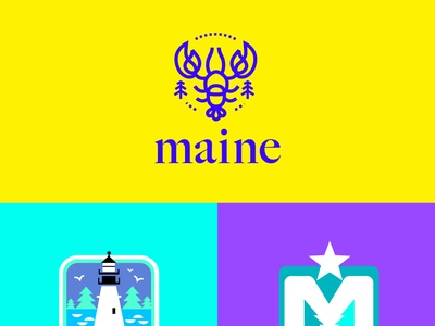 Logo for maine.com project logo design state of maine maine logo