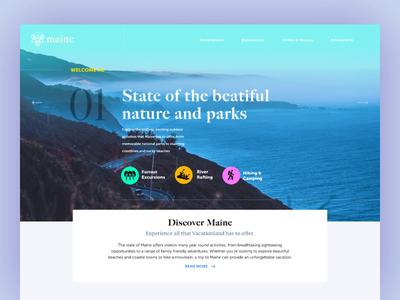 Slides for maine.com landing page