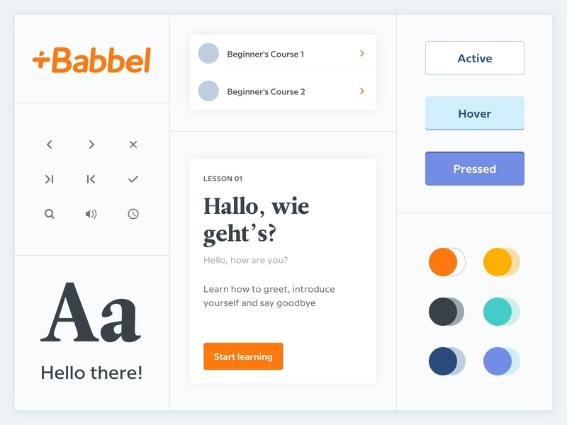 Babbel Design System guidelines language learning styleguide ui design system