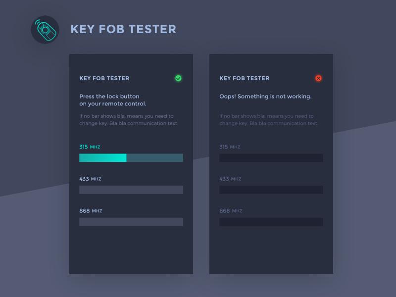 Key Fob App >> Key Fob Tester App By Mi On Dribbble