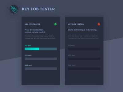 Key Fob Tester APP