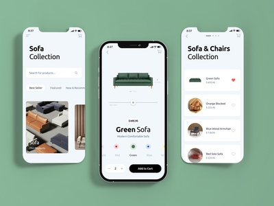 Furniture Shopping App design clean design furniture uiux online shopping ecommerce shopping app app design