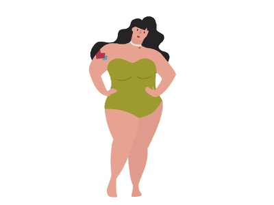 Curvalicious vector plus size curves illustration character design