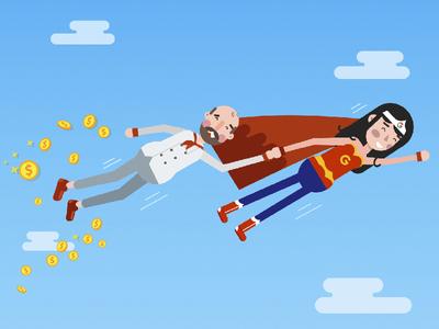 Wonder Woman google animation motiongraphics illustration character design