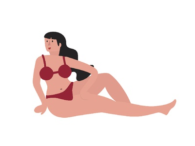 Posing vector plus size curves illustration character design