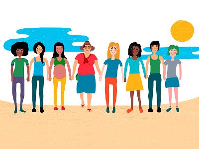World Transformation woman naif feminism feminist animation motiongraphics illustration character design