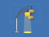 Line Art Exercise #2 - Lamp