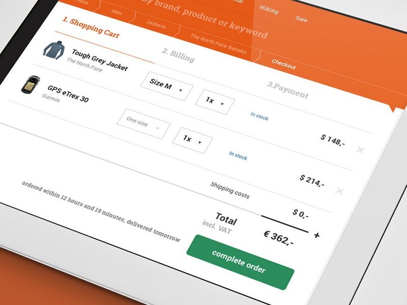 Checkout checkout store ecommerce pay cart responsive ipad