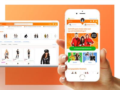 Ontwerp Carnavalskleding.nl webshop website