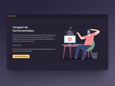 Horror! design dutch website ui