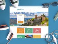 Design Vivencia Travel website