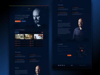 Lonebeard website gamedesign website