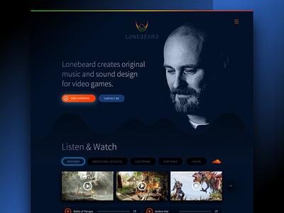 Lonebeard website webdesign website dutch