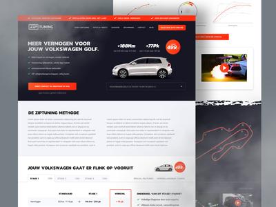 Design ZipTuning cars webapp website
