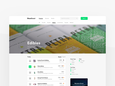 Blazescout — Product Home website startup search discovery cannabis