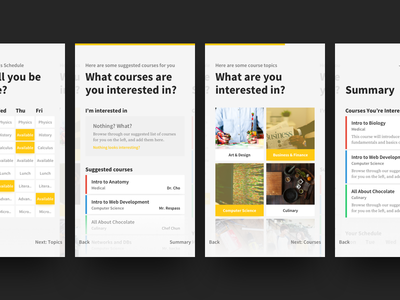 BCA Electives – Mobile ui students education mobile