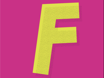 F by Anna Beyerle via dribbble