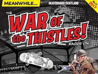 War of the Thistles 2017 Skateboard Competition poster