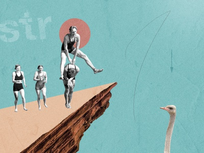 Jumpin' editorial illustration editorial design editorial visual design digital design design digital illustration illustration mixed media collage maker collage art digital collage collage