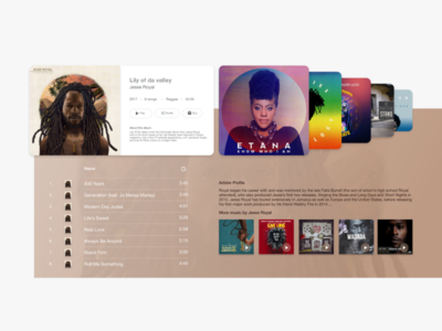 Music Player, Store ui