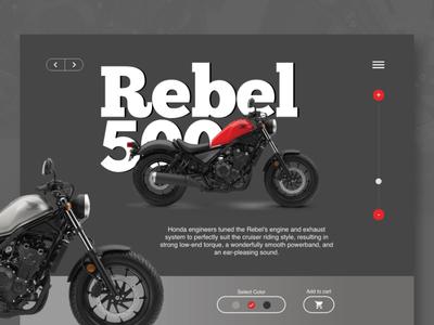 Motor bike, store ui