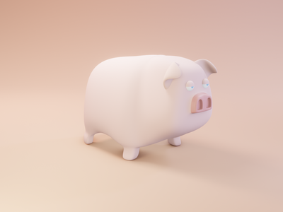 Bored Pig design 3d