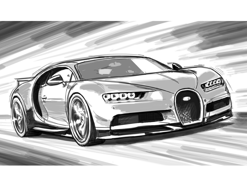 Bugatti Chiron by Tom Connell on Dribbble