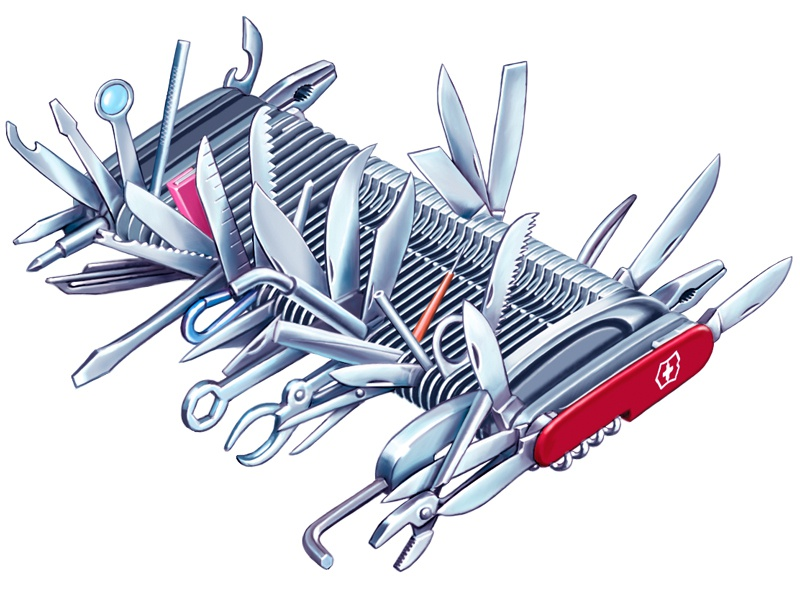 Mega Swiss Army Knife By Tom Connell On Dribbble